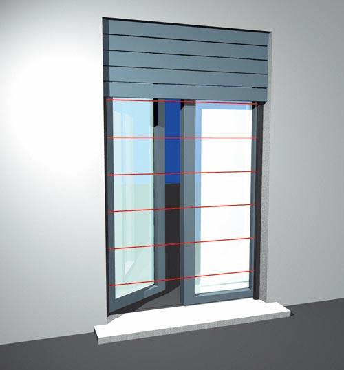 Barriere infrarosso per porte e finestre